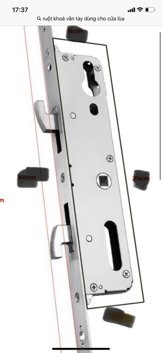 Khóa cửa lùa vân tay Kassler KL-599I- tiêu chuẩn chống nước-1f