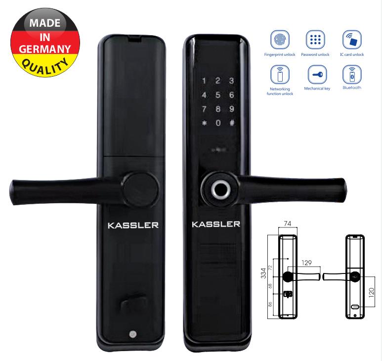 Khóa vân tay Kassler KL-669 - Mở khóa bằng app